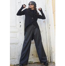 Wide Leg Grey Pants / Long Maxi Pants / Women Pocket Trousers / Loose Pants