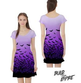 Gone Batty! Capped Sleeve Dress