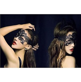 Enchanting Black Lace Fabric Mask
