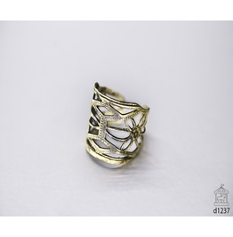 Chevalier Ring Aztec Ring Midi Hammered Ring