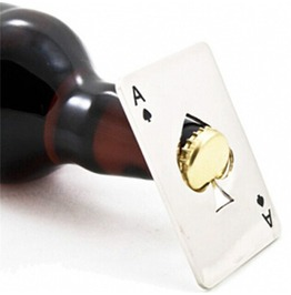 Playing Card Ace Of Spades Bar Tool Soda Beer Bottle Cap Opener