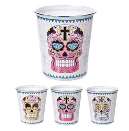 Egg N Chips London Sugar Skull Day Of The Dead Plastic Waste Paper Bin