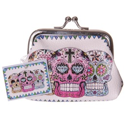 Egg N Chips London Sugar Skull Day Of The Dead Money Purse