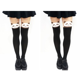 Harajuku Panda Mock Tights/ Pantyhose