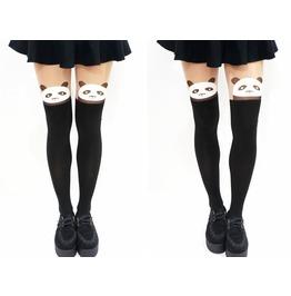 Harajuku Panda Mock Tights/ Pantyhose