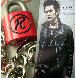 Sid Vicious Nana Punk Sex Pistols R Lock Padlock Necklace Chain Red