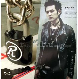 "Nana Ren Sex Pistol Sid Vicious Chain ""R"" Necklace Padlock Black"