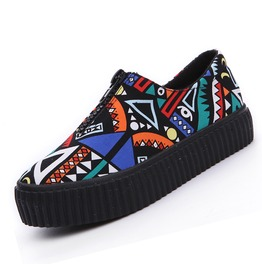 Graffiti Zipper Women's Canvas Shoes