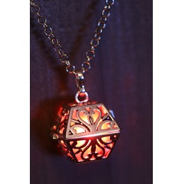 Red Glowing Orb Pendant Necklace Box Locket