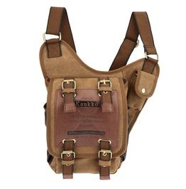 Utility Retro Canvas/Leather Bag B0167 Ca Tt Read Description B4 U Buy
