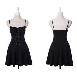Beautiful Corseted Mini Dress Black G0933 B Tt