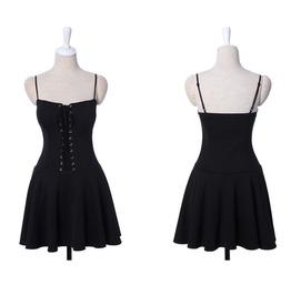 Beautiful Corseted Mini Dress Black G0933 B Tt