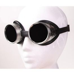 Cyber / Steampunk Goggles Welders Aluminum Metal With Tinted Glass