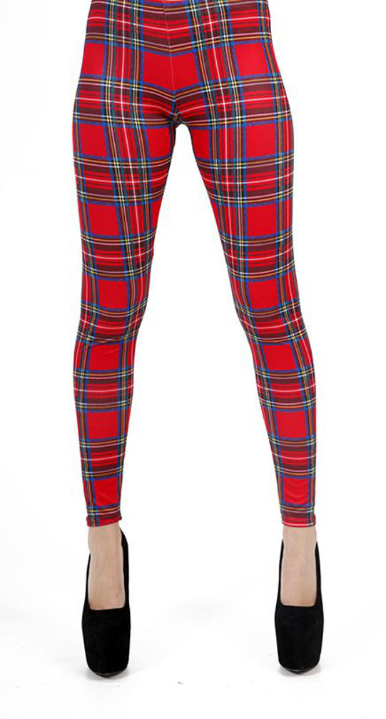 Timeless tartan sets these leggings apart from the rest with sophisticated design, and a stretch-infused knit fabric keeps them comfortable and secure all day long.