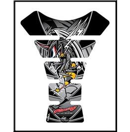 Motografix Crazy Hornet Tankpad Motorbike Body Protection Racing Black Silv