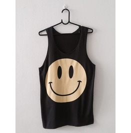 Smiley Happy Face Fashion Pop Rock Vest Tank Top M