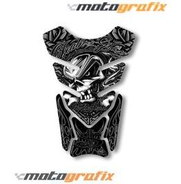 Motografix Death Or Glory Tankpad Motorbike Body Protection Skull Sticker