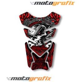 Motografix Death Or Glory Tankpad Motorbike Body Protection Skull Sticker R
