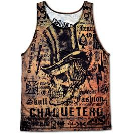 Steampunk Skull Fashion Affliction Tank Top Perfect Chrismas Gift For Men