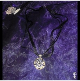 Necklace Leather Pentagram