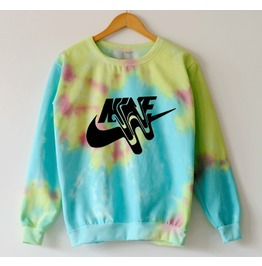 Harajuku Kawaii Tie Dyed Women Sweatshirts