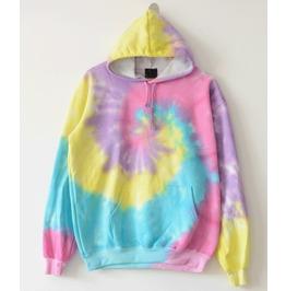 2016 Spring Women Tie Dye Sport Galaxy Print Hoodies Sweatshirts