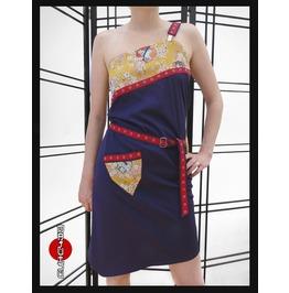 Japanese Apron Dress Sakura Yellow