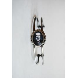 Handmade Edgar Allan Poe Cameo Cuff Bracelet
