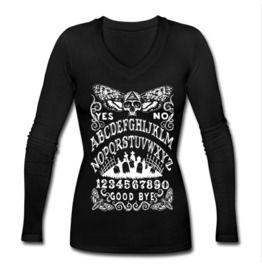 8903e41c513df Death Head Moth Ouija Board Long Sleeve V Neck