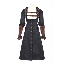 Steampunk Lace Ruffles Women Overcoat B153