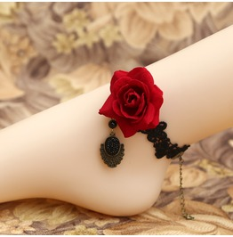 Gothic Rose Lace Ankle Chain