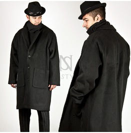 Black Wide Squared Fit Single Coat 88