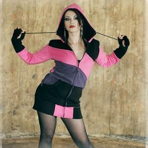 goth punk hoodie