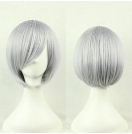 Dark Side Of Glitz Silver Synthetic Wig Bob
