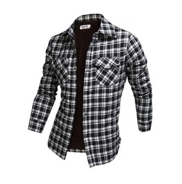Long Sleeve Winter Checked Plush Shirt Ncm846 S