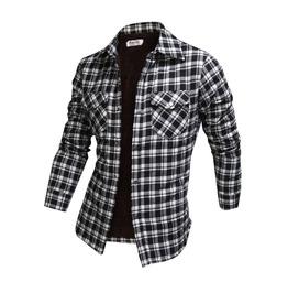 Long Sleeve Winter Checked Plush Shirt Ncm846 S