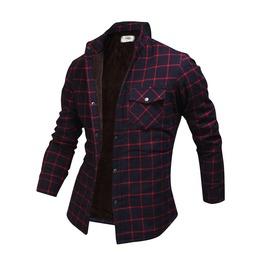 Long Sleeve Winter Checked Plush Shirt Ncm847 S