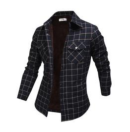 Long Sleeve Winter Checked Plush Shirt Ncm848 S
