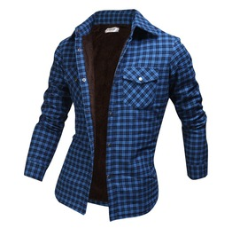 Long Sleeve Winter Checked Plush Shirt Ncm850 S