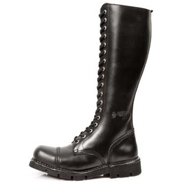 New Rock High Quality M.New Mili 19 S Black Combat Military Boot