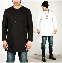 Simpel & Basic Napping Long Round Tee 413
