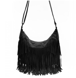 Black Fringed Retro Inspired Handbag