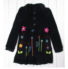 Gringo Flower Power Black Velvet Coat
