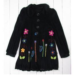 Gringo Flower Power Black Velvet Coat