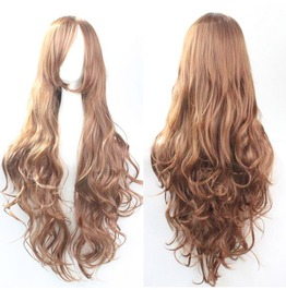 Long Light Brown Mixed Scene Wig
