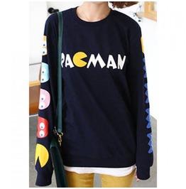 Women Pac Man Sweatshirt With Arm Detail