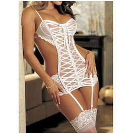 X X Virgin White Xx One Size Fits Most Teddy
