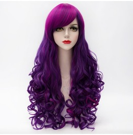 X X Schizophrenic Psycho Xx Long Synthetic Multicolored Scene Wig