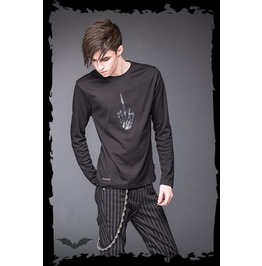 Skeleton Middle Finger Long Sleeve Shirt $9 Shipping Worldwide