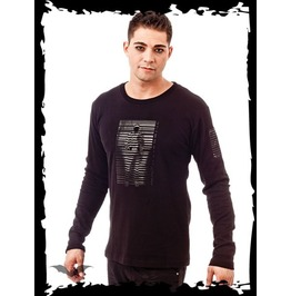 Human Barcode Long Sleeve Goth Industrial Shirt $9 Shipping Worldwide